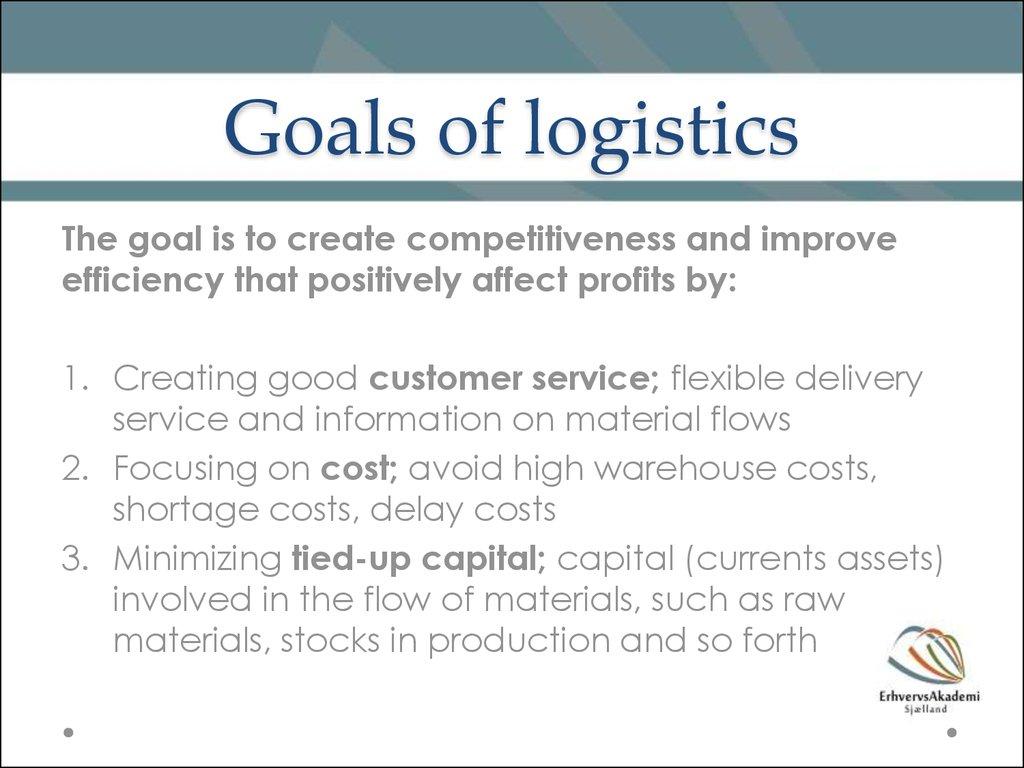 introduction to logistics  u0026 distribution structures