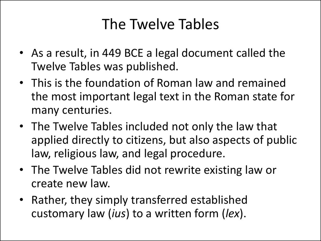 Roman Law Introduction Origins Of Roman Law