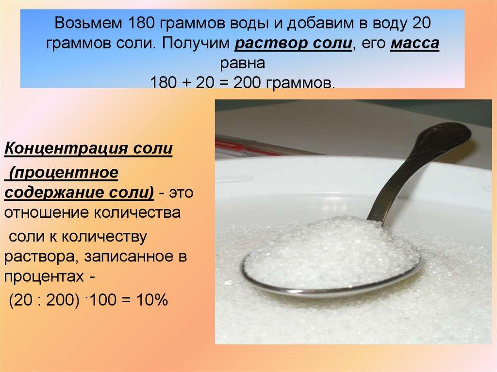 Как приготовить соляной раствор 10 процентный