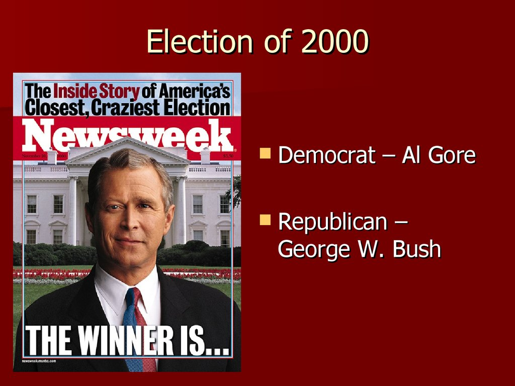 An introduction to the history of the 2000 elections george bush and al gore