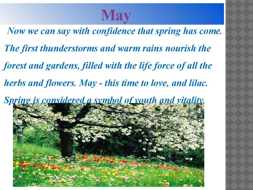 презентация на тему seasons and months