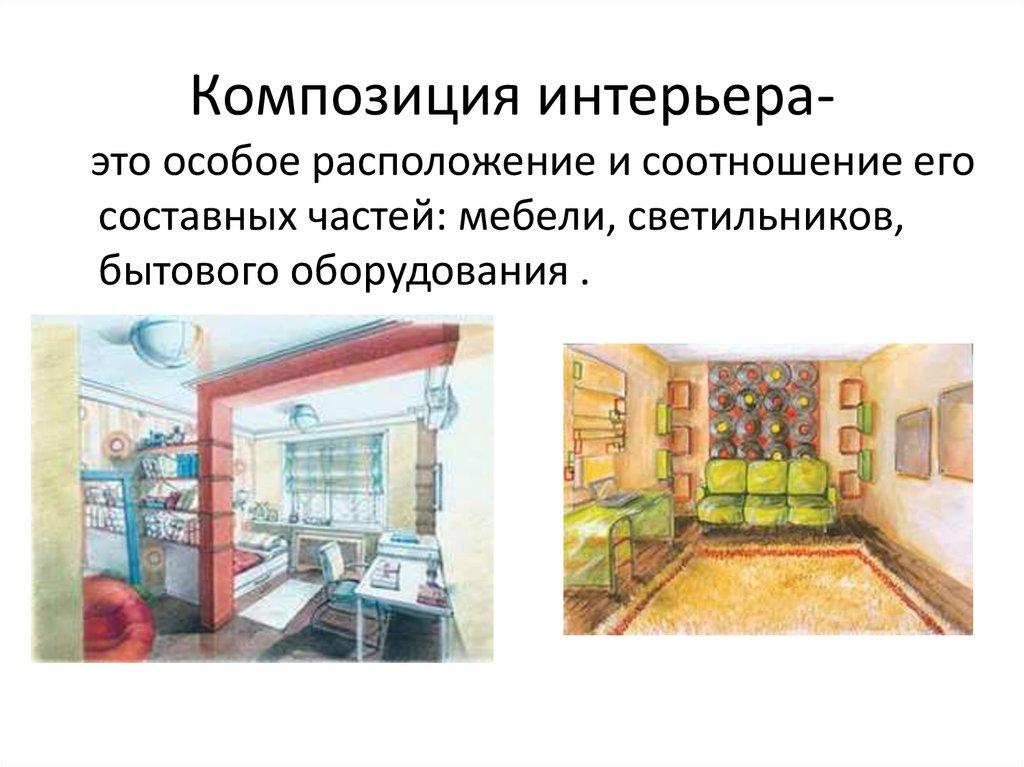 Дизайн пространственно-вещной среды интерьера презентация