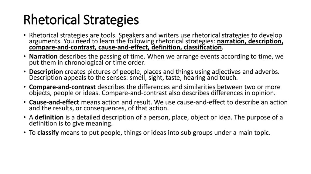 How to edit an essay rhetorical strategies