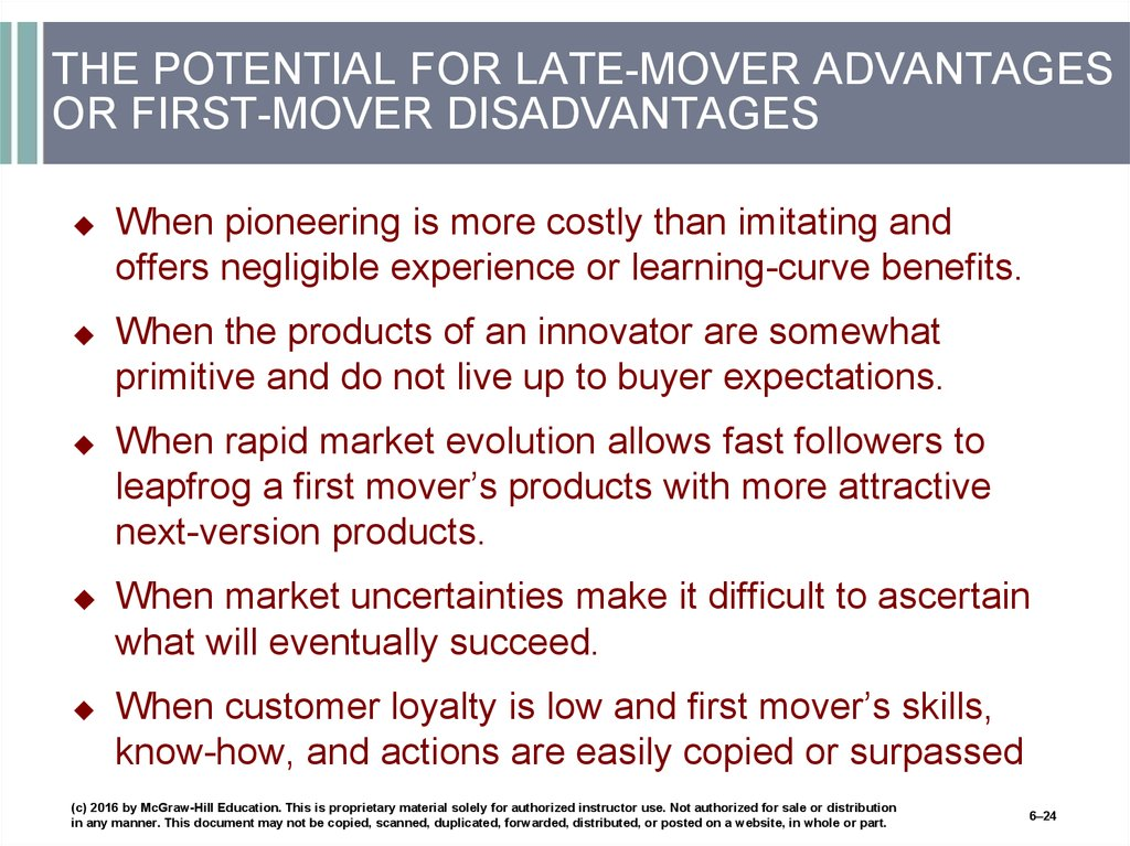 what are the advantages and disadvantages of being the first mover in an industry Our analysis of pharma launches confirms a weak first-to-market advantage on average the first-mover advantage actually vanishes advantages of being first.