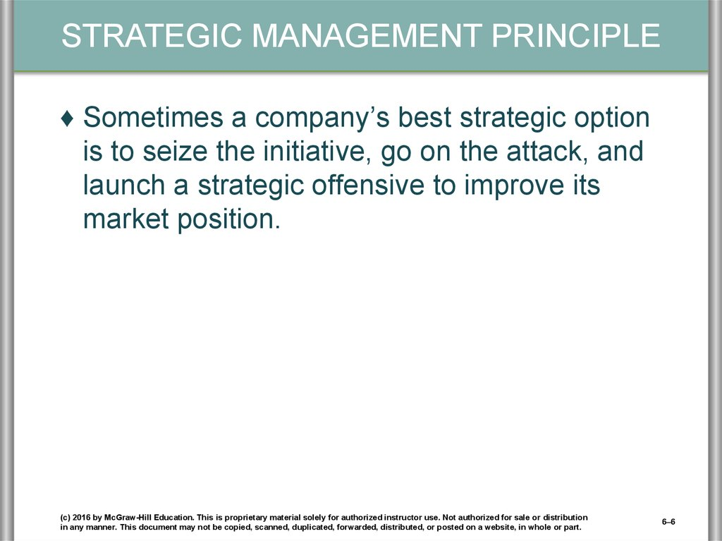 Strengthening A Company S Competitive Position Strategic Moves Timing And Scope Of Operations