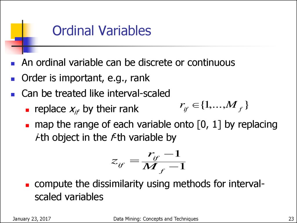 Nominal Variables