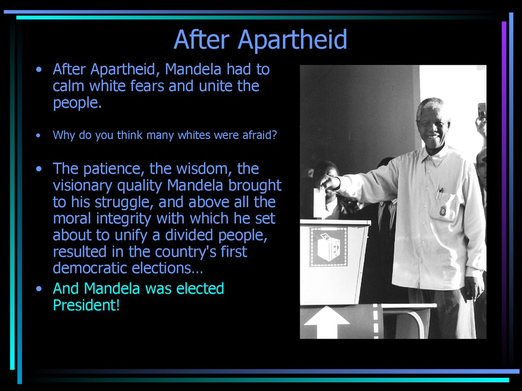 Nelson mandela hero of the apartheid