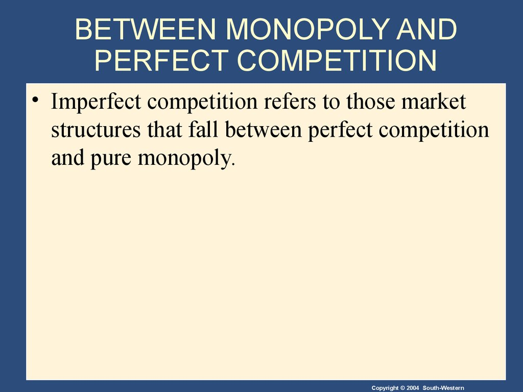 the relationship between pure monopolistic market and imperfect competition