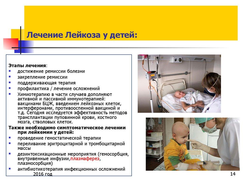 Уход и лечение при лейкозах