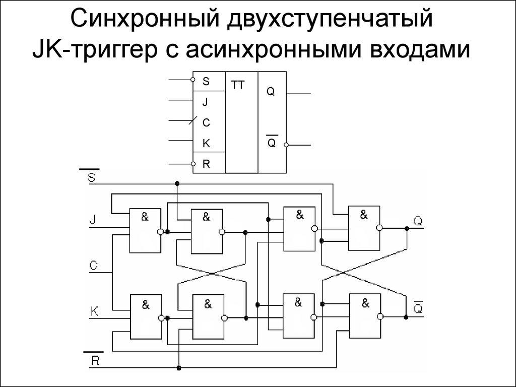 схема универсального жк тригера