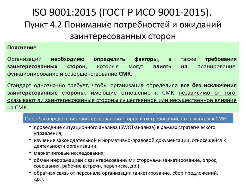 стандарт гост р исо 9001 2015 цена