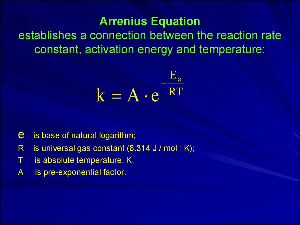 rate law and activation energy Introduction: general background on rate, activation energy, absolute temperature, and graphing the rate law: the rate of a chemical reaction is generally expressed by the rate law: rate = k[a]a[b]b microsoft word - s lightstick kineticsdoc.