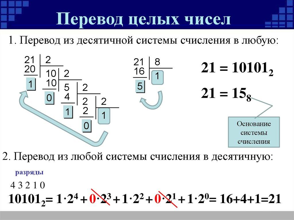 Решебник ао информатике системы счисления
