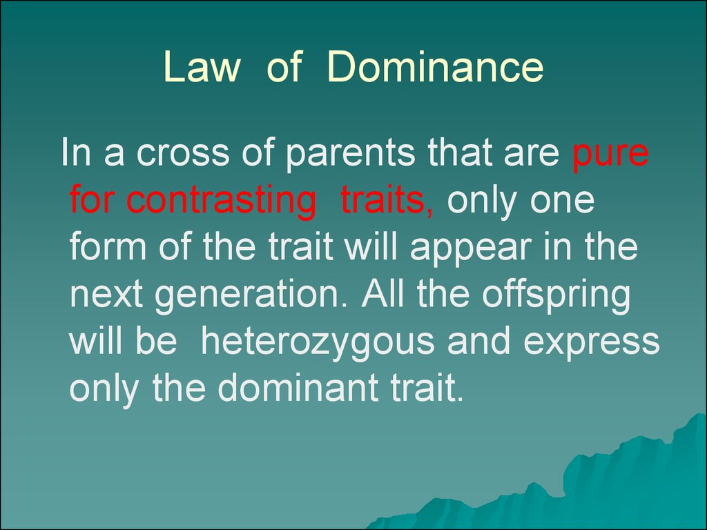 law of dominance - photo #16