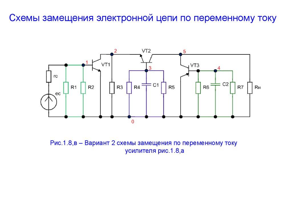 Элементы в цепи переменного тока