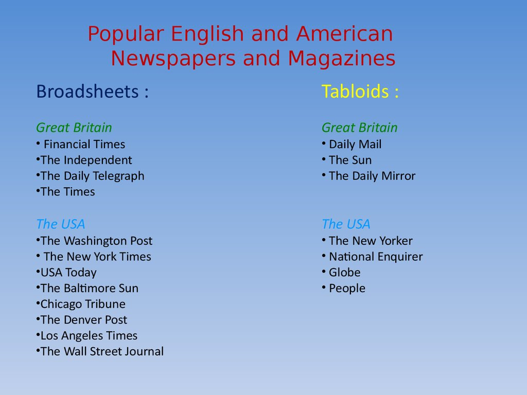 @Broadsheet vs Tabloid Newspapers | Newspapers - Scribd