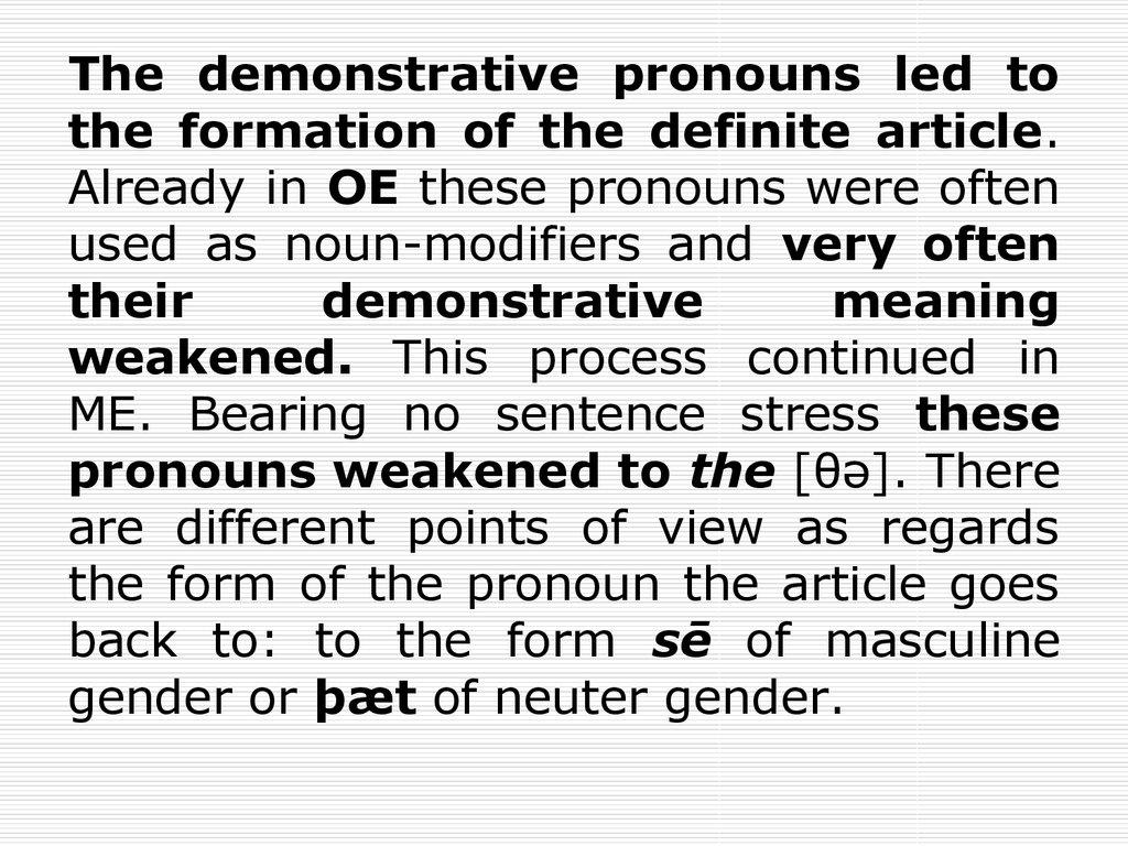 Grammatical category