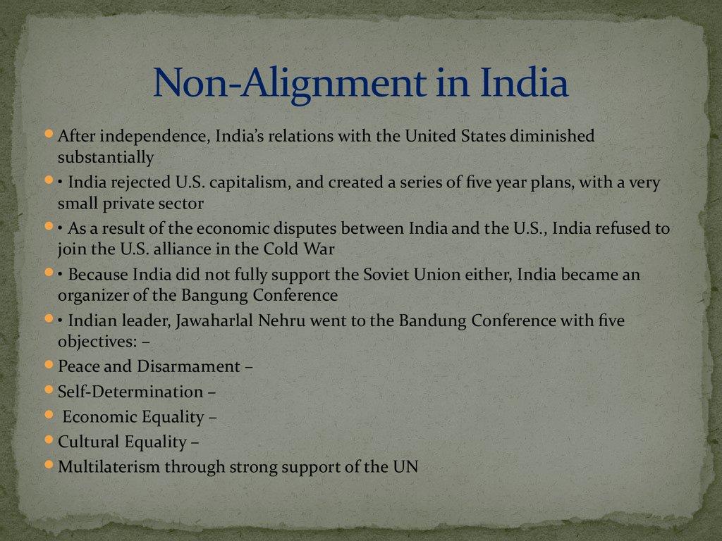 non alignment movement