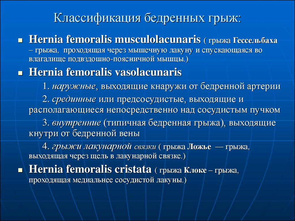 классификация грыж по swr