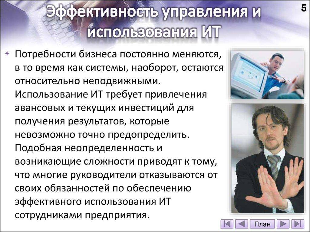 использования ит: