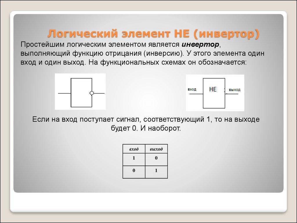 функциональная схема логического элемента не