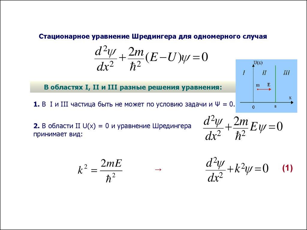 Уравнение шредингера связанное состояние