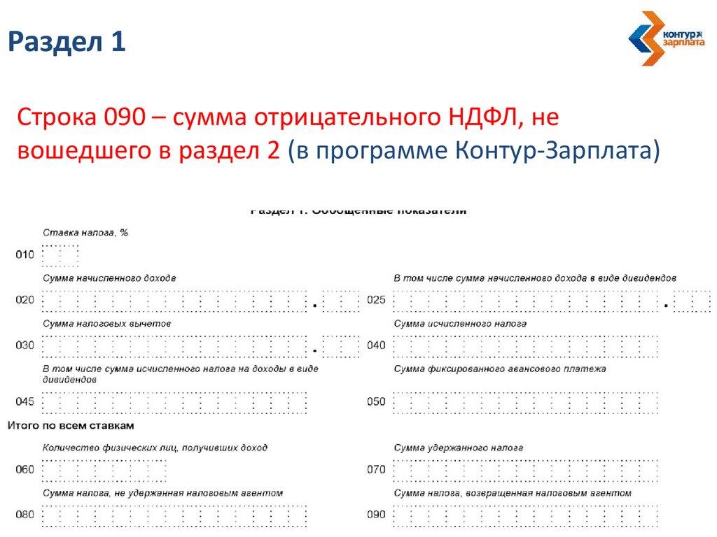что показывать в строке 070 формы 6 ндфл такое интерфейс