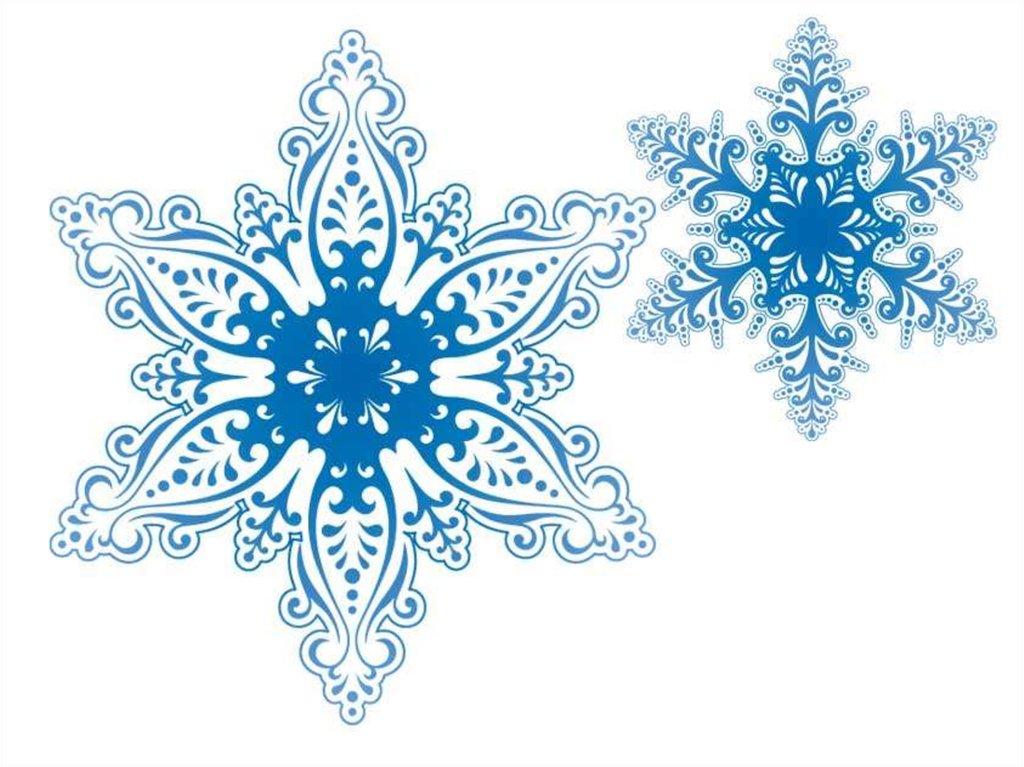 презентация снежинки такие знакомые и разные