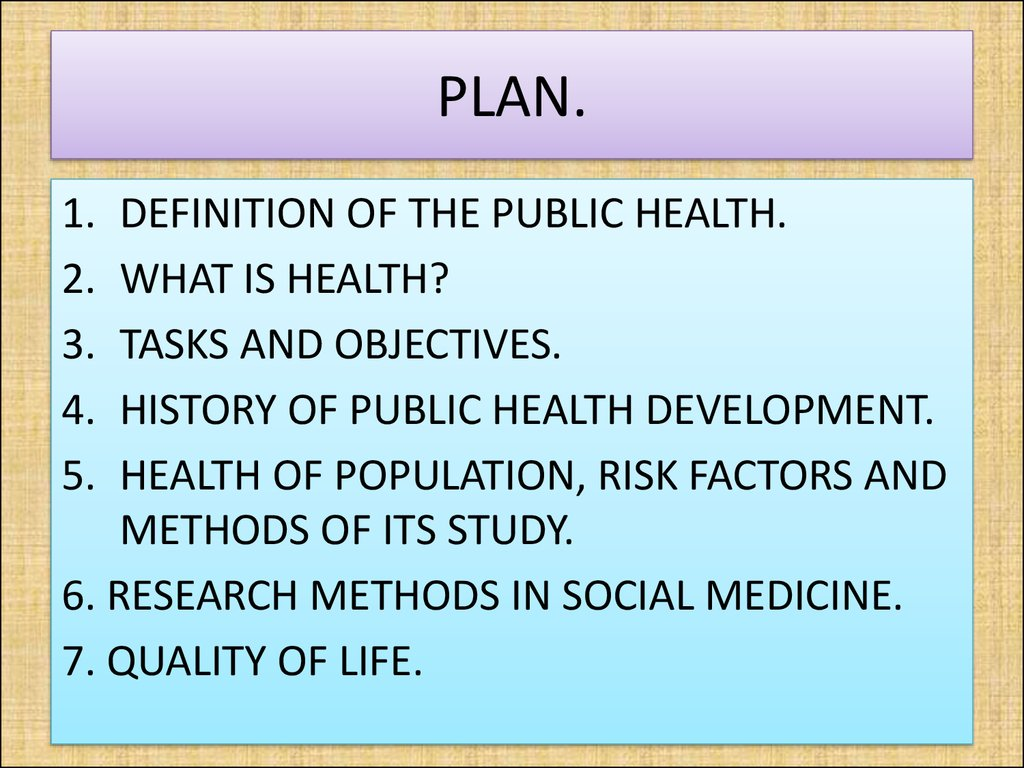 Social medicine and organization of health protection as ...