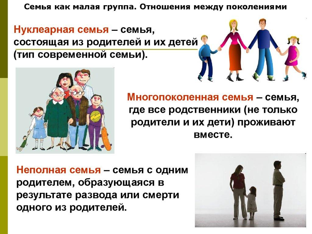 Отношения поколений в современных семьях