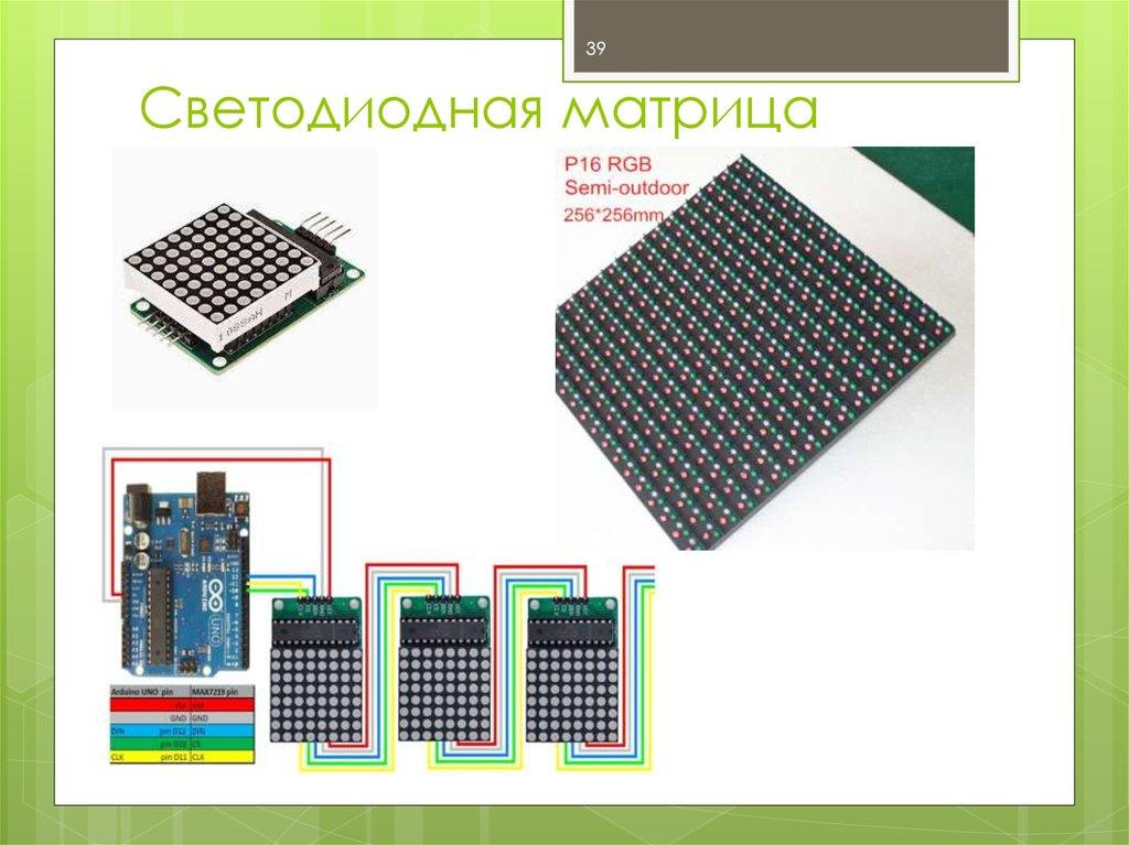 Светодиодной матрица своими руками