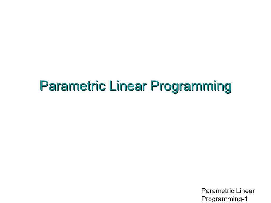 parametric linear programming Nonparametric and empirical probability distributions  you cannot accurately describe a data sample using a parametric  because the piecewise linear.