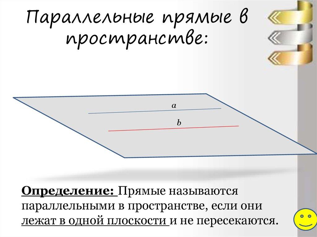 Рисунок параллельность прямых