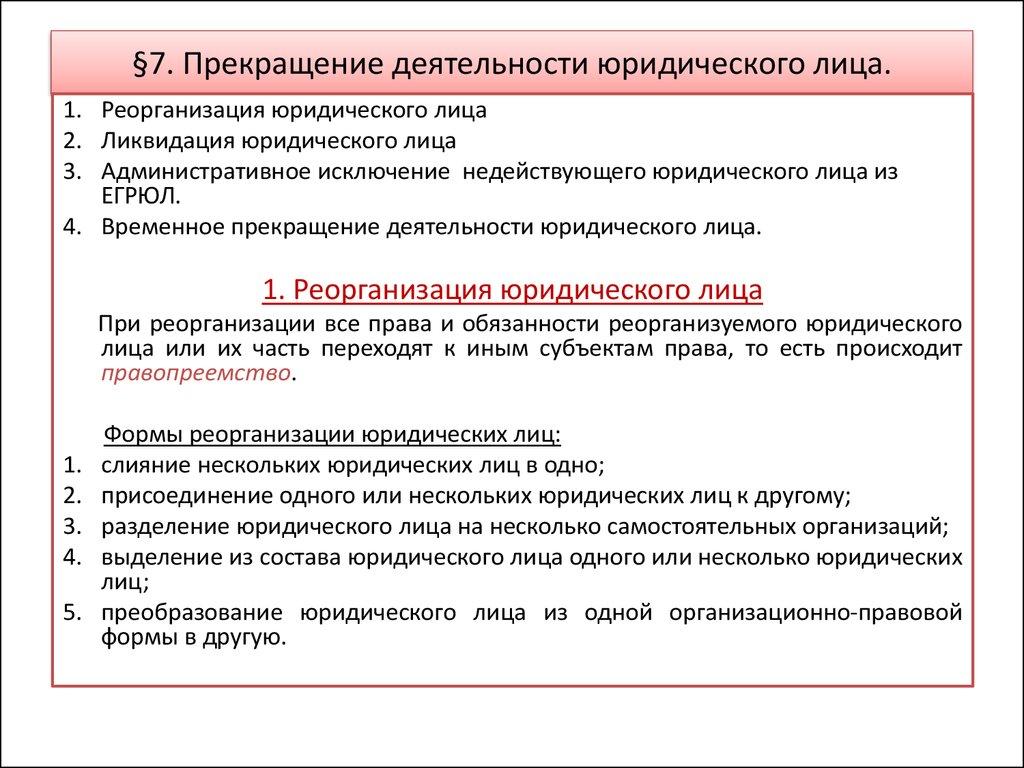 прекращение договора в связи с ликвидацией юридического лица вдалеке показалась