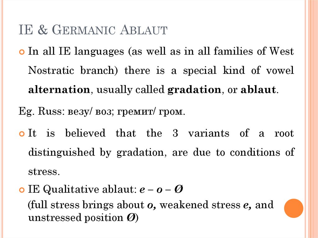 IE & Germanic Ablaut