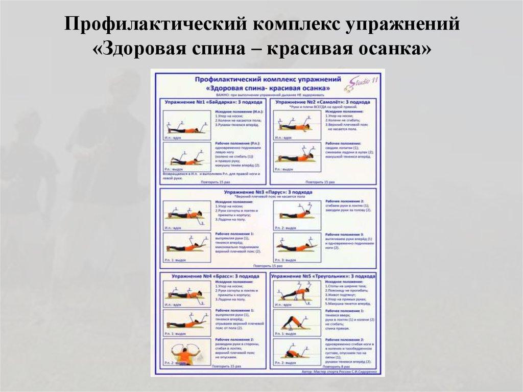 комплекс спортивных упражнений в картинках
