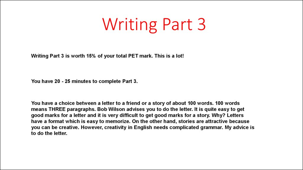 pet  writing  u0026 listening
