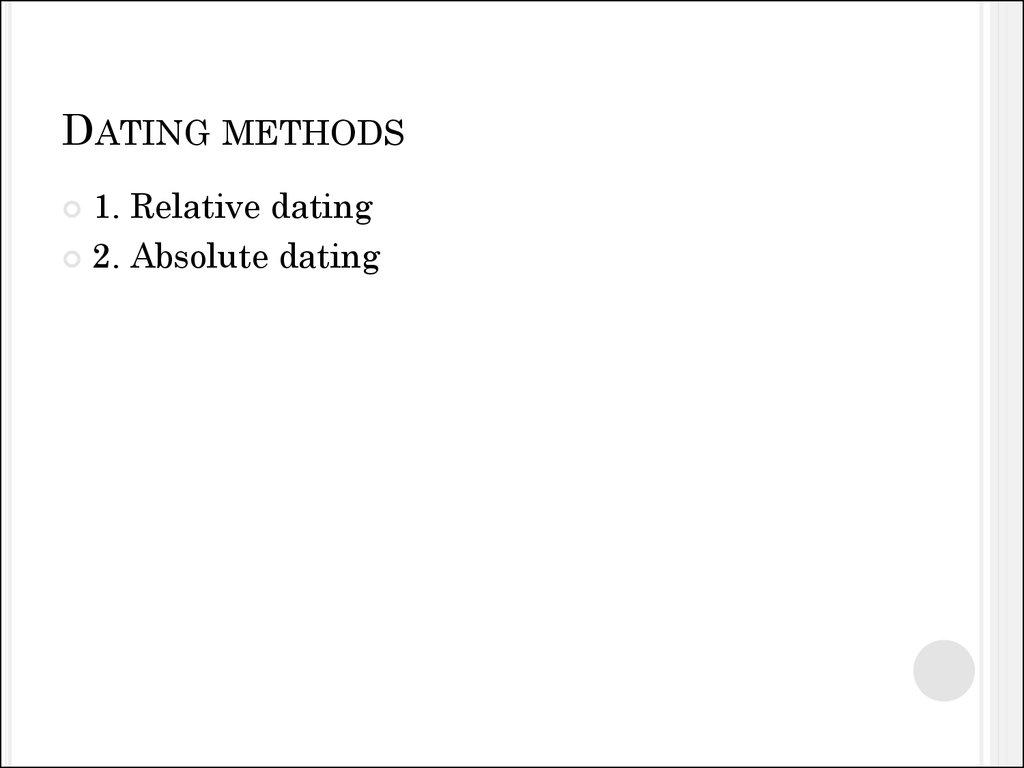 Stratigraphy dating method