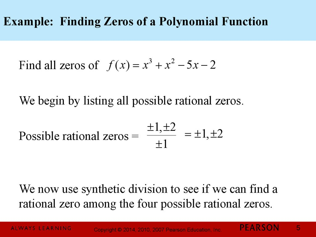 how to find the order of a polynomial