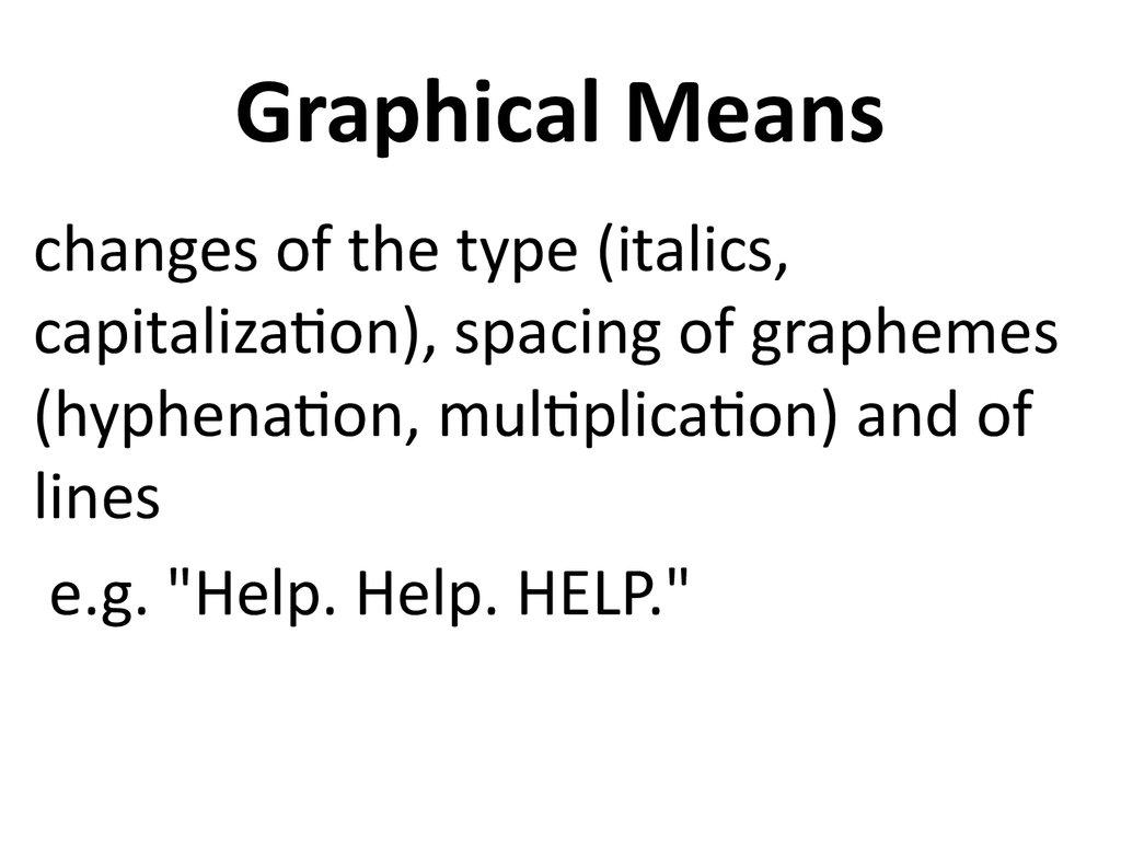 Graphical Means