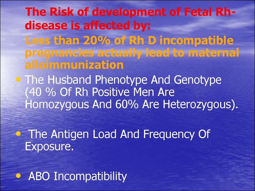 Haemolytic disease of the newborn