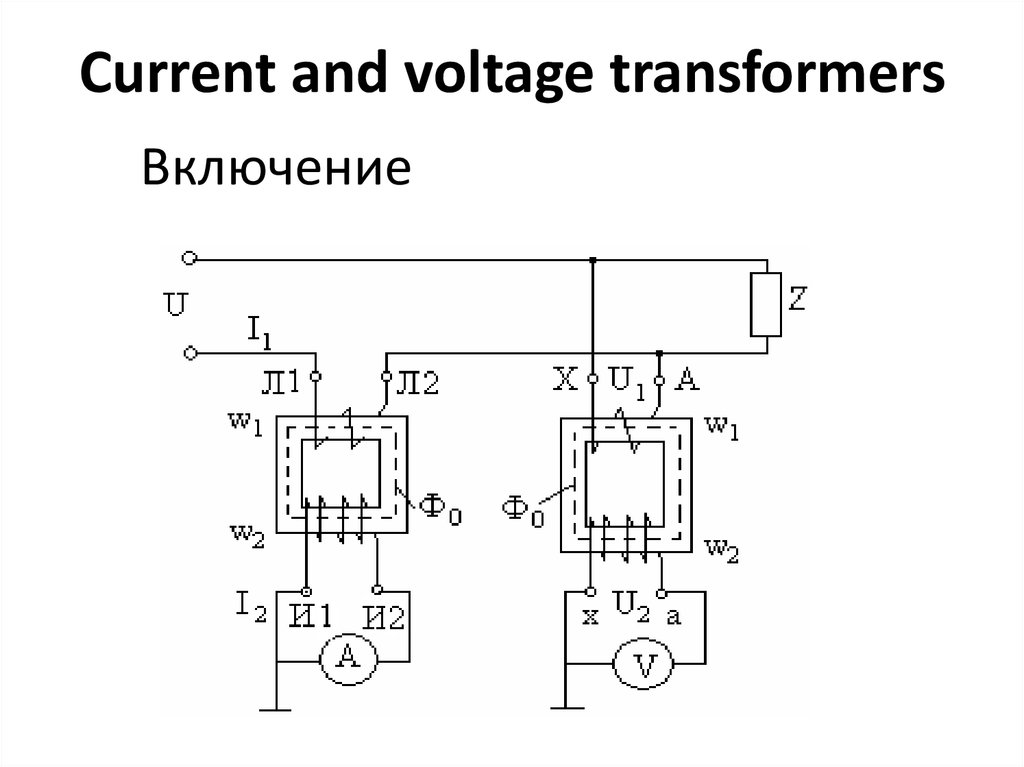 current and voltage transformers