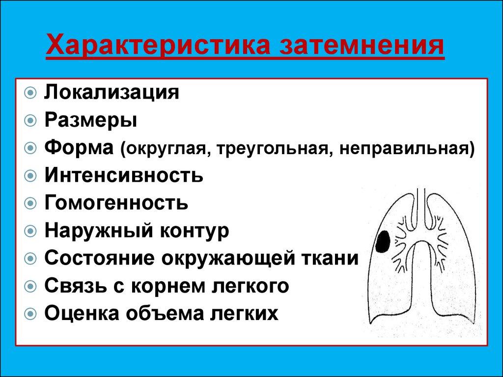 Как лечить затемнение легких
