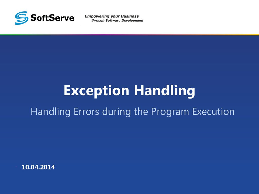 exception handling The following is a list of topics that explain how to use exception handling in oracle / plsql.