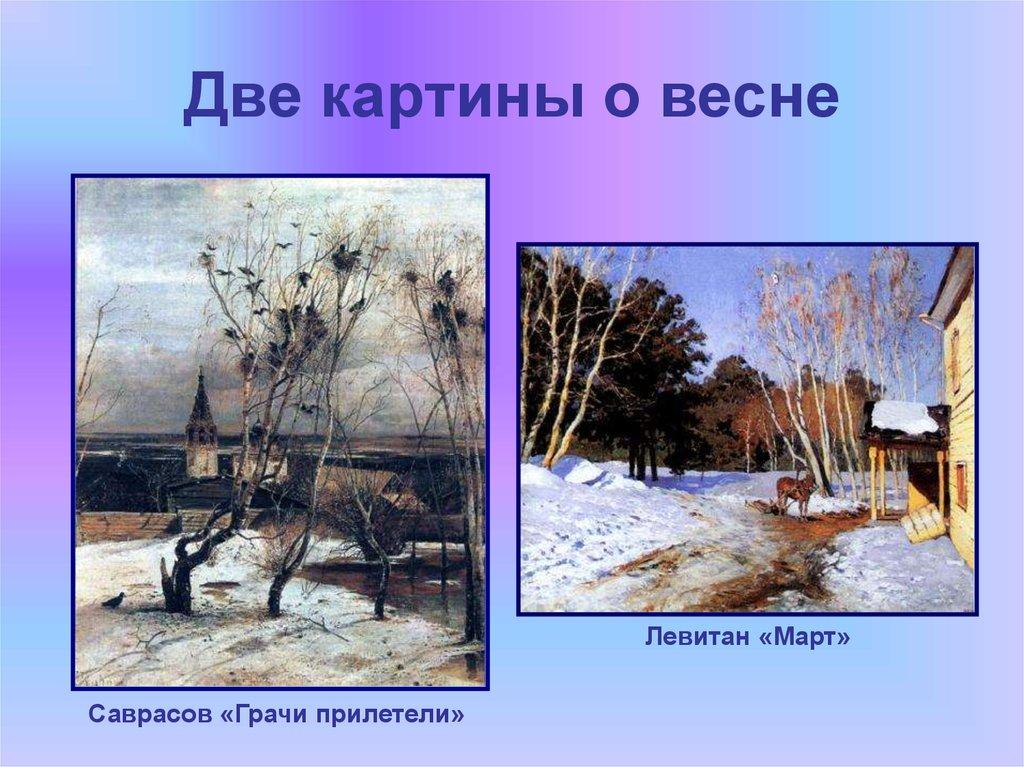 Весна на картинах русских художников саврасова и левитана