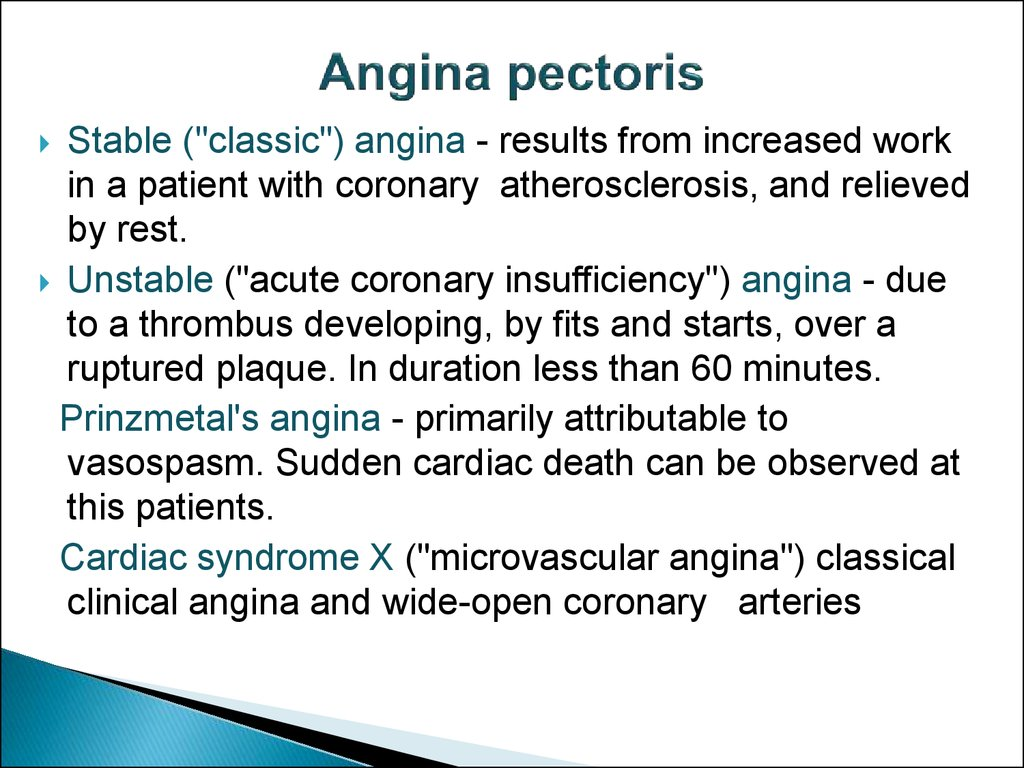 stabiele en instabiele angina pectoris