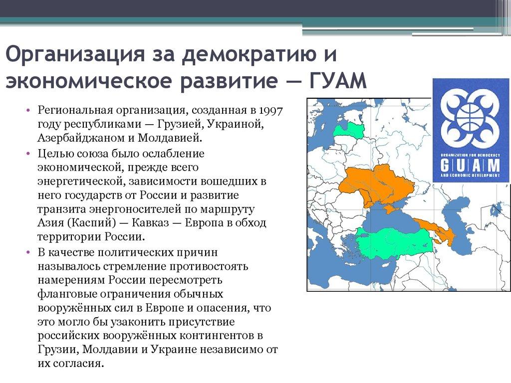 Флаги государств-членов гуам (по часовой стрелке): грузия, украина, азербайджан, молдавия