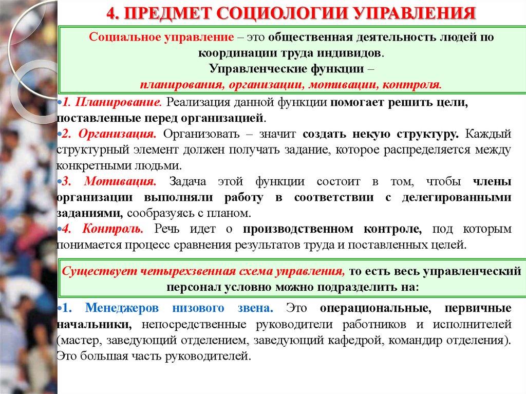 Модели Социального Управления Координация Субординация Реординации