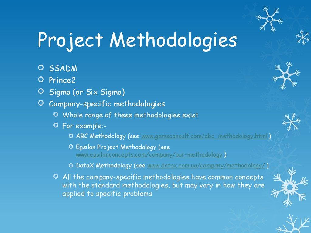 Project Methodologies презентация онлайн