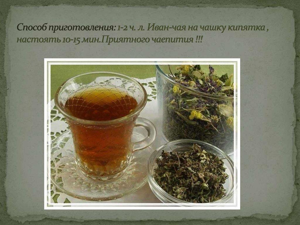 рецепт приготовления чая из травы иван чай